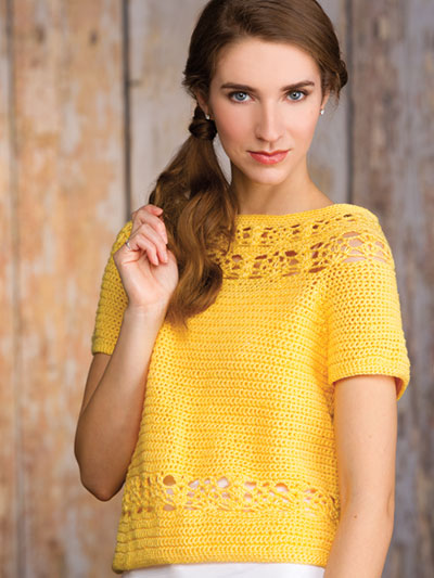 Pineapple Lace Pullover Crochet Pattern