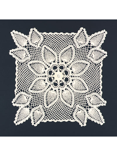 Square Pineapple Doily Crochet Pattern