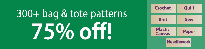 *Offer valid on select e-patterns through October 19, 2020, at 6:00 a.m. ET, only at e-PatternsCentral.com.