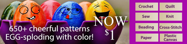 650+ cheerful patterns EGG-sploding with color!