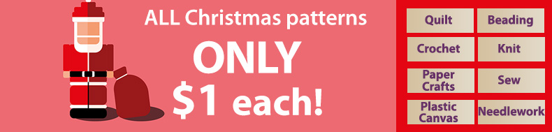 *Offer valid on select e-patterns through December 1, 2020, at 6:00 a.m. ET, only at e-PatternsCentral.com.