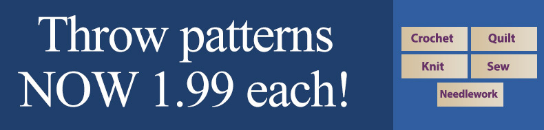 *Offer valid on select e-patterns through March 7, 2021, at 6:00 a.m. ET, only at e-PatternsCentral.com.