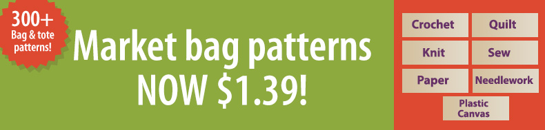 *Offer valid on select e-patterns through July 22, 2021, at 6:00 a.m. ET, only at e-PatternsCentral.com