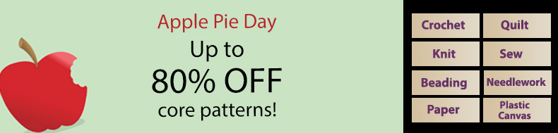*Offer valid on select e-patterns through May 14, 2021, at 6:00 a.m. ET, only at e-PatternsCentral.com.
