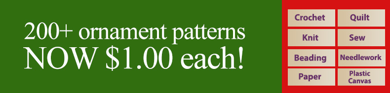 *Offer valid on select e-patterns through May 11, 2021, at 6:00 a.m. ET, only at e-PatternsCentral.com.