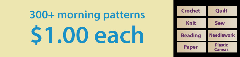 **Offer valid on select e-patterns through January 21, 2021, at 11:59 p.m. ET, only at e-PatternsCentral.com.