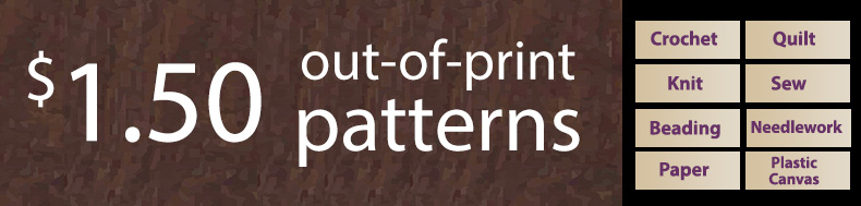 *Offer valid on select e-patterns through September 25, 2021, at 6:00 a.m. ET, only at e-PatternsCentral.com.