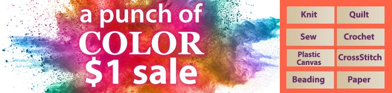 a punch of | COLOR | $1 sale
