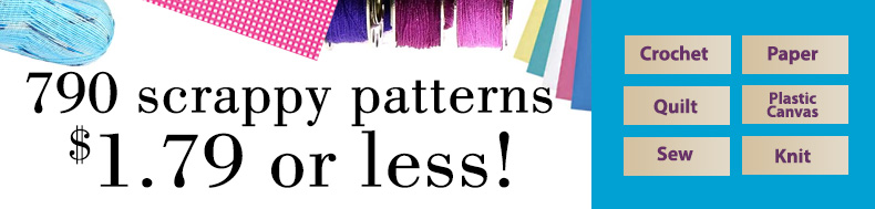 790 scrappy patterns | $1.79 or less!