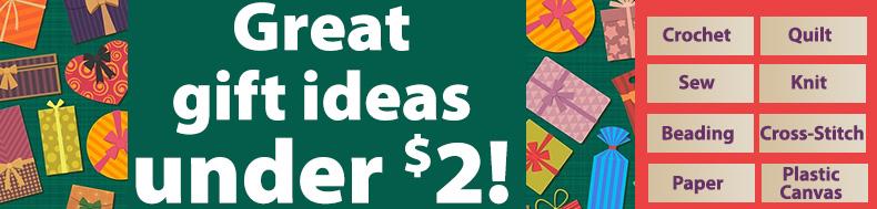 Great gift ideas under $2!