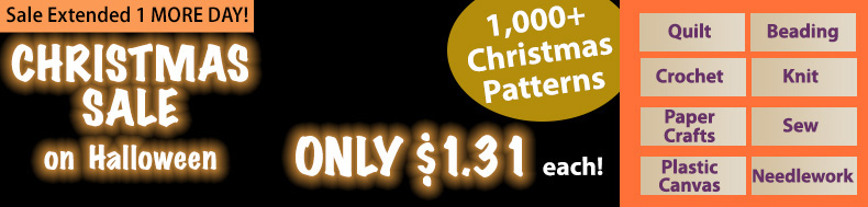 *Offer valid on select e-patterns through November 1, 2020, at 6:00 a.m. ET, only at e-PatternsCentral.com.