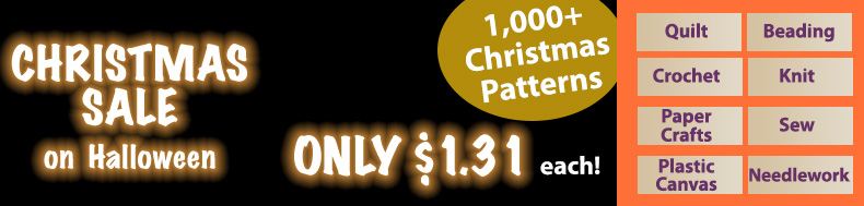 *Offer valid on select e-patterns through October 31, 2020, at 6:00 a.m. ET, only at e-PatternsCentral.com.