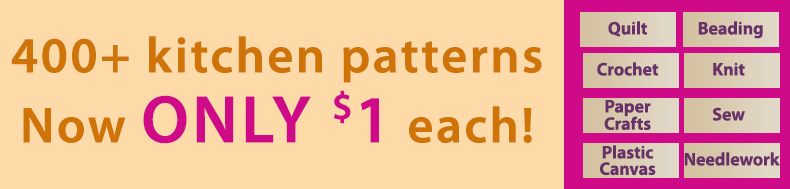 *Offer valid on select e-patterns through October 20, 2020, at 4:00 p.m. ET, only at e-PatternsCentral.com.