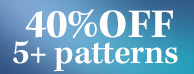 40% off purchase of 5+ patterns Sale